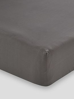 250TC Cotton Percale Fitted Sheet 40cm