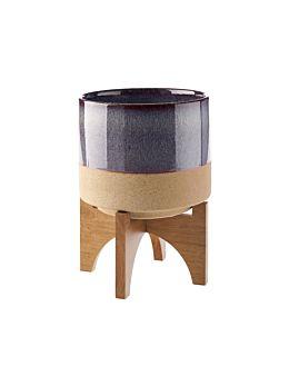 Splendor Purple Medium Planter Pot + Stand