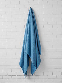 Waffle Sea Blue Blanket