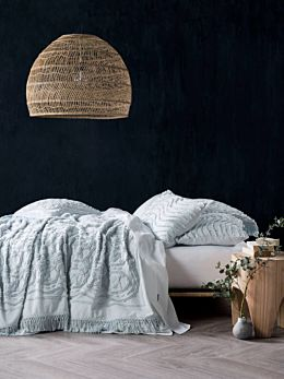 Somers Soft Blue Bed Cover